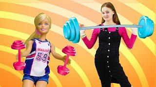 Барби занимается спортом. Готовимся к соревнованиям. .