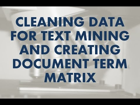 Data Science Tutorial | Text Analytics With R | Cleaning Data And Creating Document Term Matrix