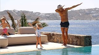 DANCE OFF WITH DAD in GREECE!!