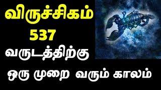 537 வருடத்திற்கு ஒருமுறை மட்டுமே இது நடக்கும்  Viruchigam Rasi  விருச்சிகம் ராசி  Tamil Astrology