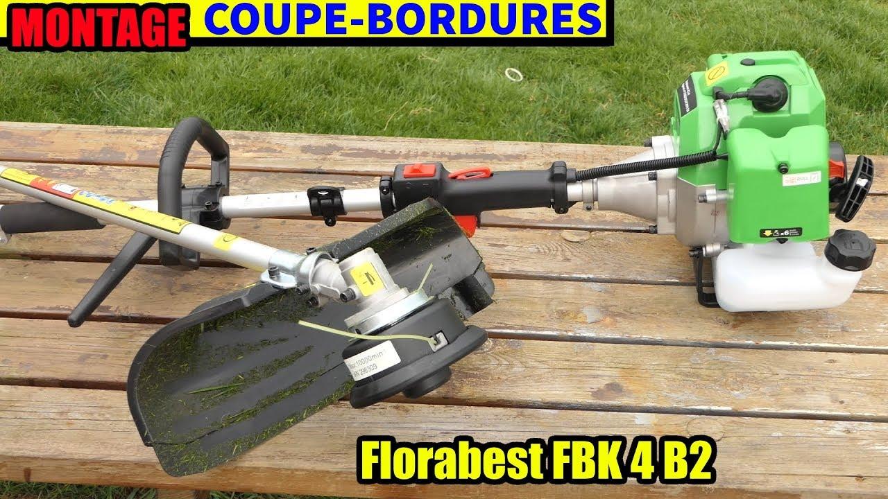 lidl outil modulable à essence florabest fbk 4 b2 : montage coupe
