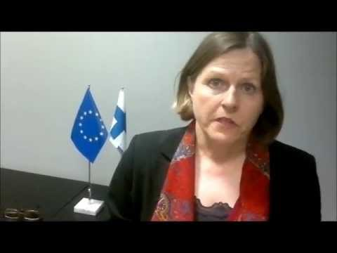Finnish Minister for International Development Ms Heidi Hautala comments ahead of the Council 14 May