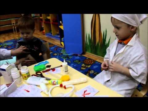 Частный детский садВ гостях у Солнышка Сюжетно-ролевая игра Больница