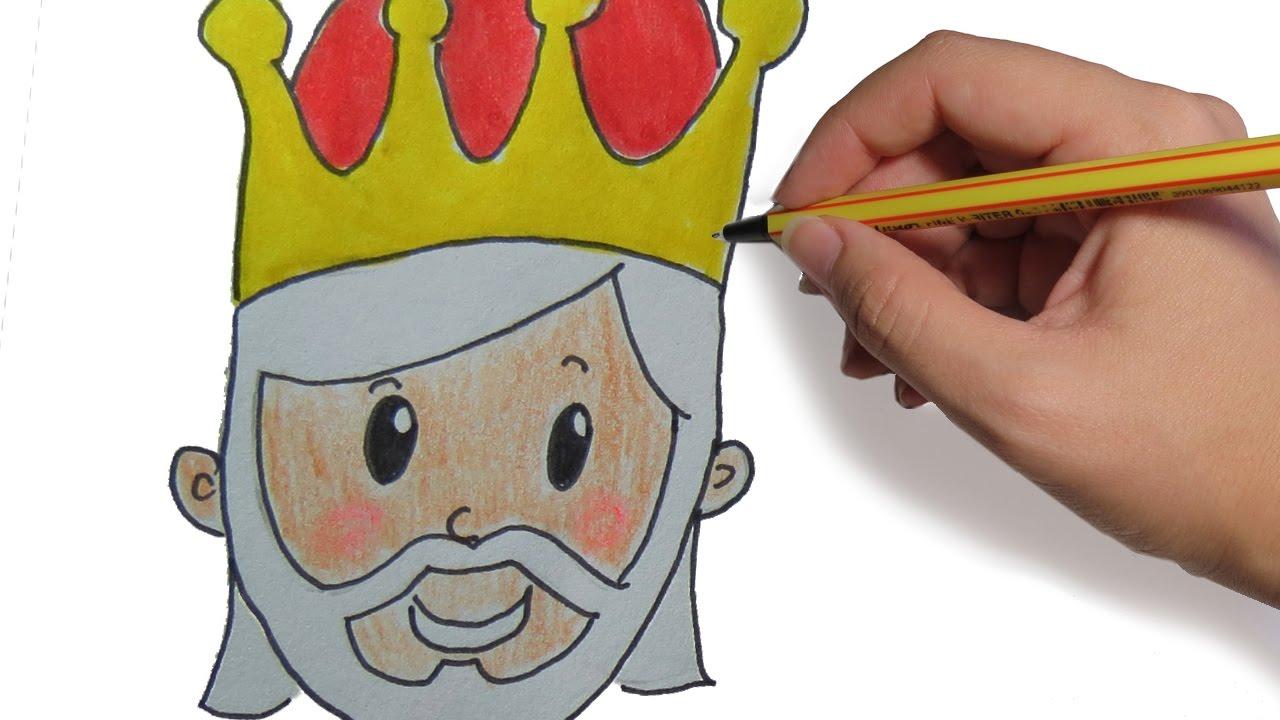 Como Dibujar A Los Reyes Magos Melchor Paso A Paso Facil Dibujos De Navidad Para Niños