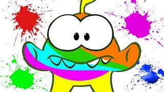 Om Nom Face Painting | Learn Colors with Om Nom | Learning Cartoons for Kids
