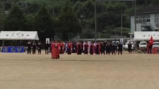 150907 厳木中学校 体育大会 応援合戦 赤団