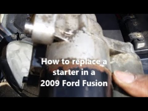 how to replace a starter in a 2009 ford fusion youtube 2001 Ford Expedition Starter Diagram