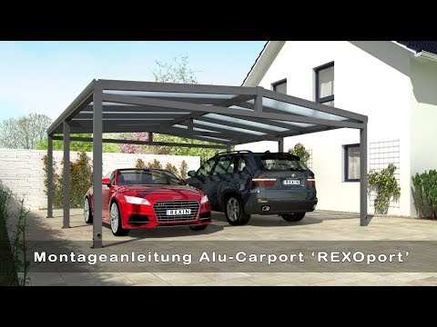Alu Carport REXOport selber bauen (Aufbauvideo)