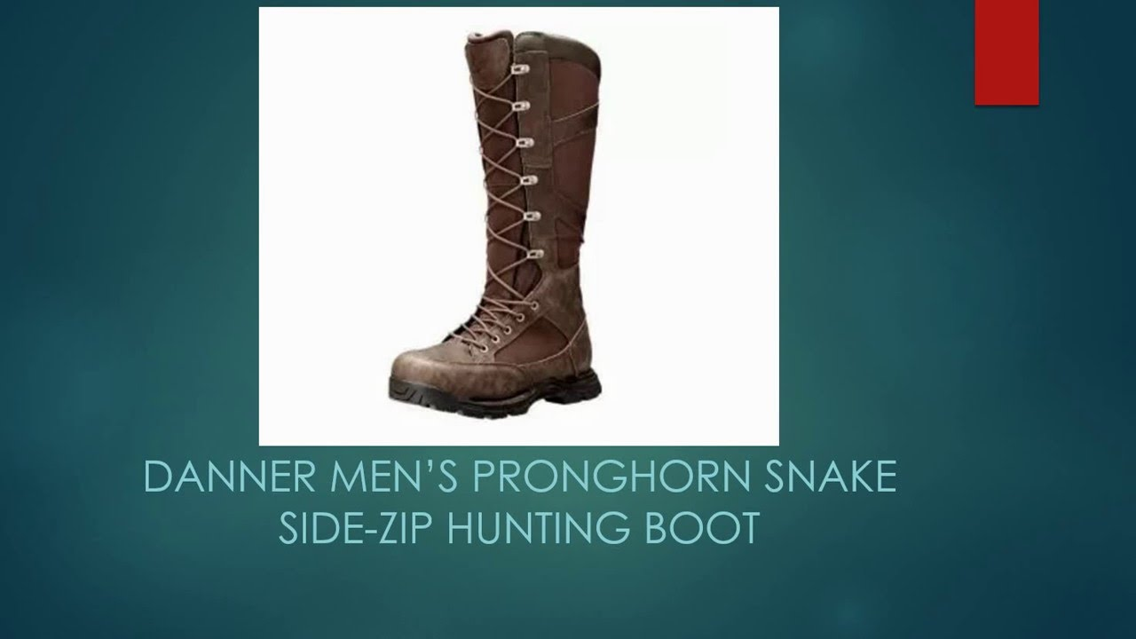 Danner Men S Pronghorn Snake Side Zip Hunting Boot Youtube