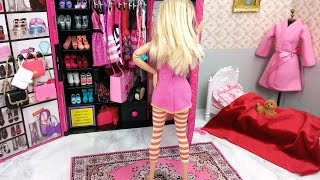 Barbie Room Princess Rapunzel doll Morning Routineغرفة نوم باربيBarbie Quarto