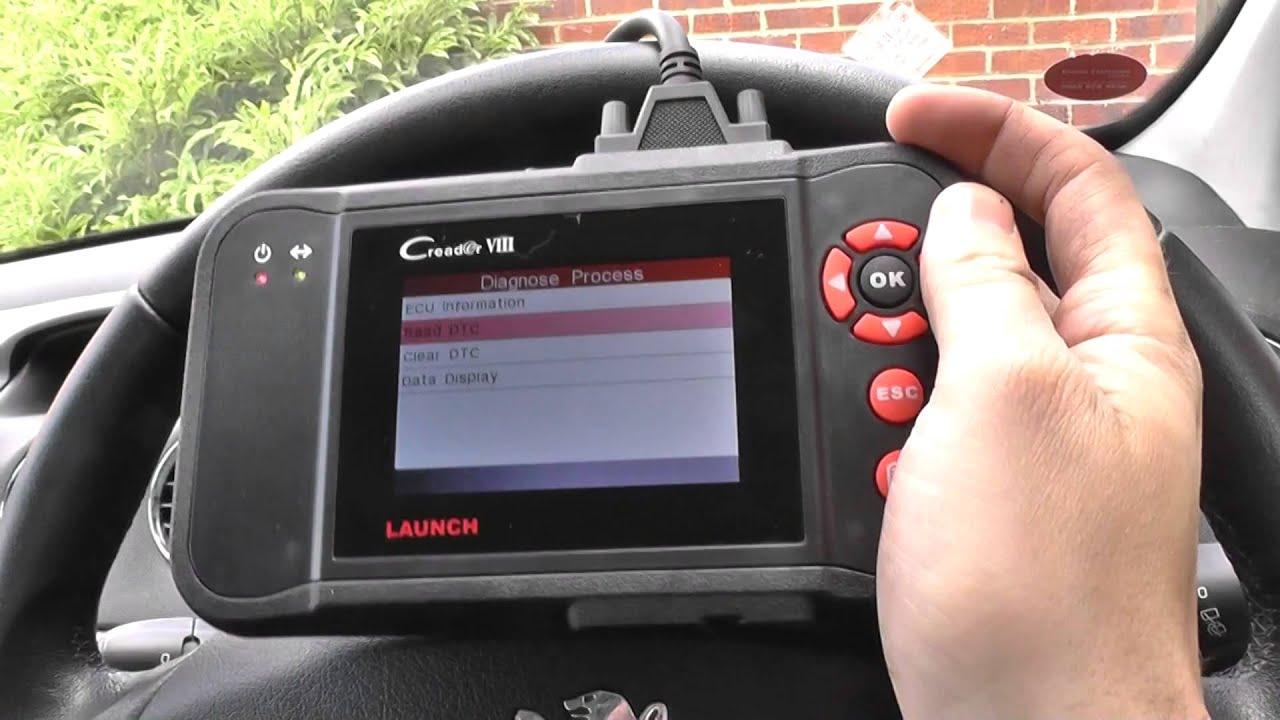 Peugeot Abs Sensor Dash Light Fault Code Diagnose Launch