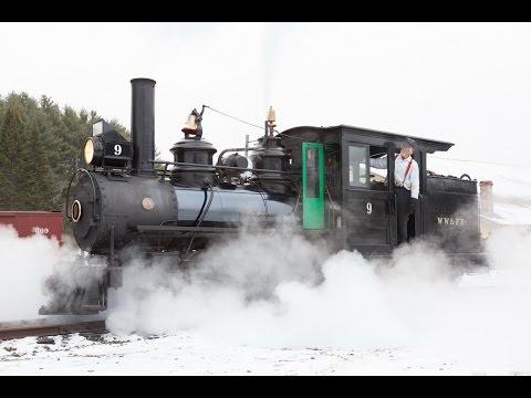 Firing up and running Two Foot Gauge Steam Locomotives - Wiscasset, Waterville & Farmington Railroad