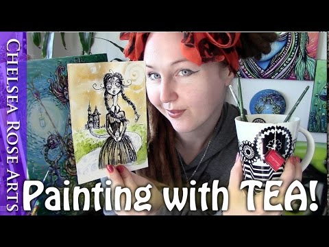 My Tea painting experiments and more
