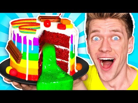 Mystery Wheel of Food Challenge! *SLIME CAKE* Learn How To Make DIY Sour Switch Up Oobleck Food