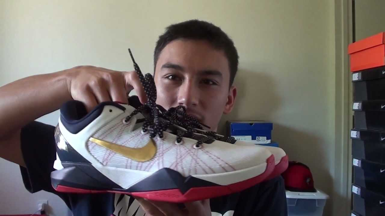 finest selection 417c5 8bd62 Nike Zoom Kobe VII Gold Medal (Olympic) On Feet Review - YouTube