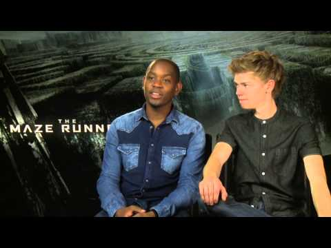 Maze Runner exclusive  with Aml Ameen & Thomas BrodieSangster