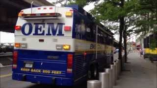 "RARE ""OEM COMMAND CENTER BUS"", OFFICE OF EMERGENCY MANAGEMENT ON SOUTH ST. IN LOWER MANHATTAN, NYC."