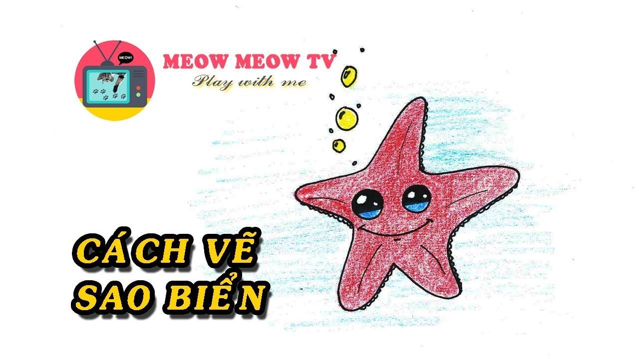 [MEOW MEOW TV] Hướng dẫn vẽ sao biển cực xinh cho bé yêu thích khám phá – 불가사리 그리기