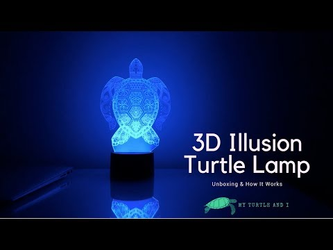 3D Illusion Turtle Lamp - Unboxing & How It Works  | My Turtle And I