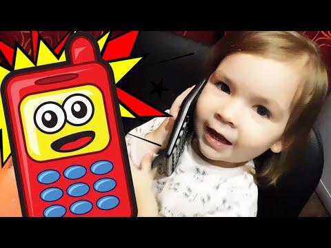 Весёлый детский телефон из калькулятора 😁💚 Funny Baby Phone From The Calculator