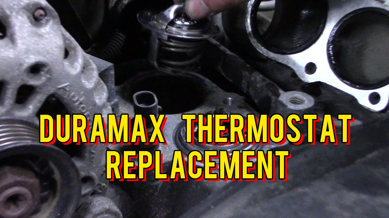 medium resolution of duramax thermostat replacement youtube