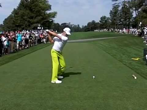 Guan Tianlang, 14, 2012 Asia-Pacific Amateur Championship Slow motion golf swing down the line,