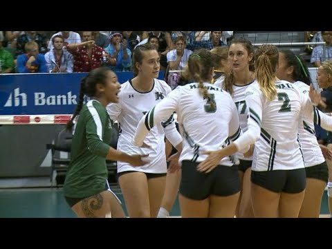 Rainbow Wahine playing their best volleyball into NCAA tournament
