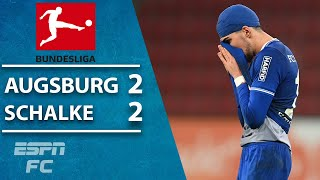 Schalke 04 were two minutes away from their first bundesliga win since january until fc augsburg's marco richter found the back of net to rescue a 2-2 dr...