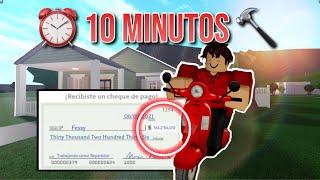 HICE una CASA con el DINERO que GANO en 10 MINUTOS | ROBLOX Bloxburg