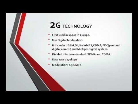 1G,2G,3G,4G Mobile Communication Technology