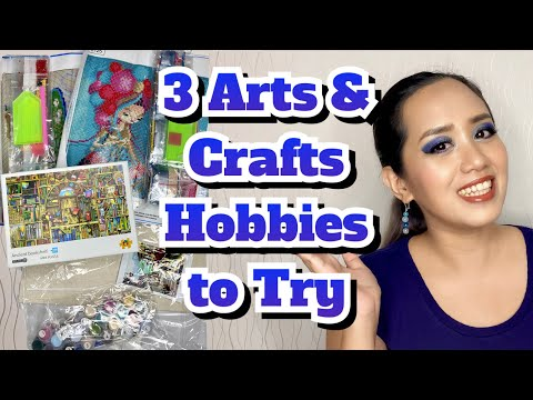 3 Arts and Crafts Hobbies to Try || Small Arts & Crafts Haul from Shopee