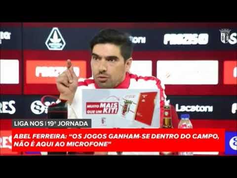 Abel Ferreira (SC Braga) comenta o atual estado do futebol português