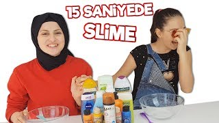 15 Saniyede Slime 😜 - DIY - En Güzel Slime,  The Most Beautiful Slime Fenomen Tv