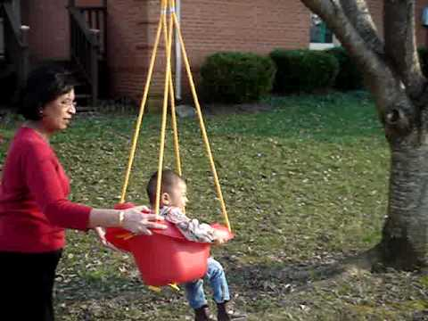 Arya Singla In Her Little Tikes Highback Toddler Swing
