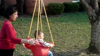 Arya Singla in Her Little Tikes Highback Toddler Swing