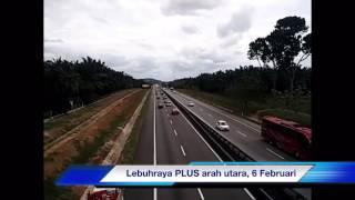 Keadaan trafik di lebuhraya PLUS arah utara antara Bertam dan Alor Setar