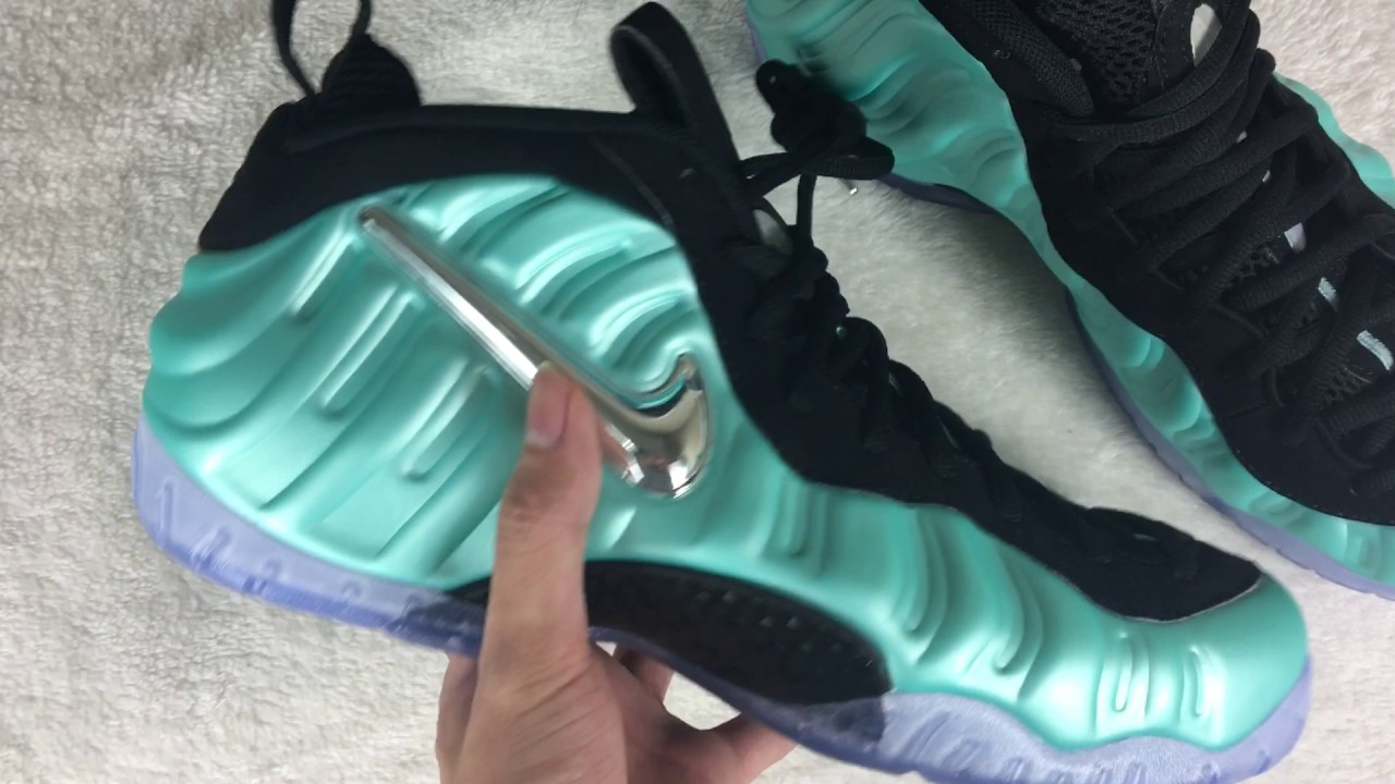"e0b34331ab5 Nike Air Foamposite Pro ""Island Green"" review from gobuykicks - YouTube"