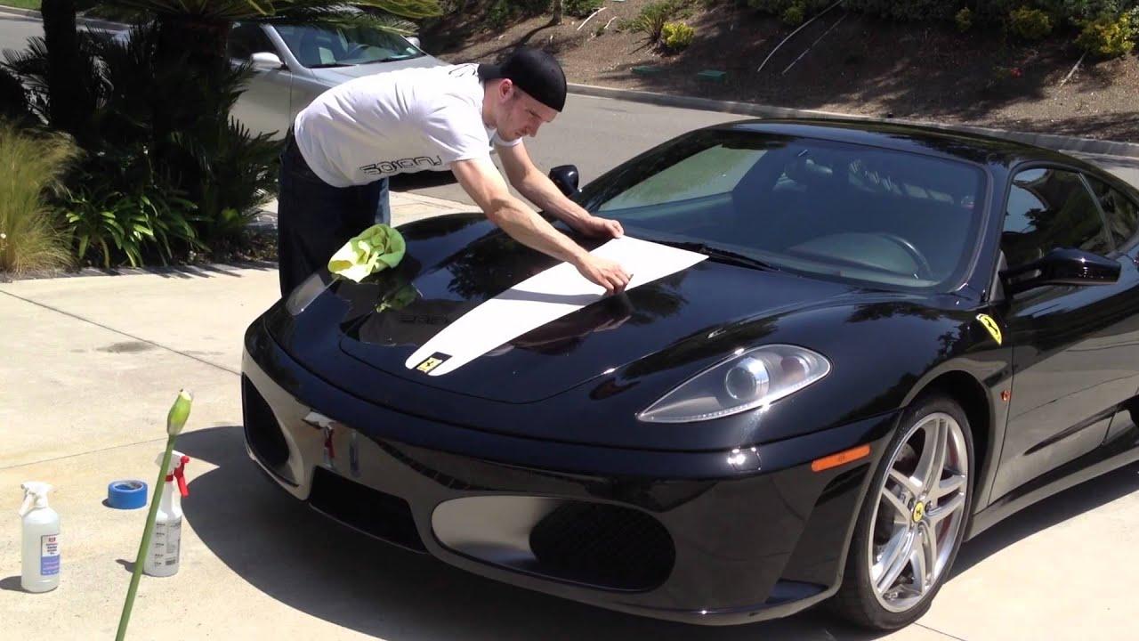 Ferrari F430 Vinyl Scuderia Stripe Install Youtube