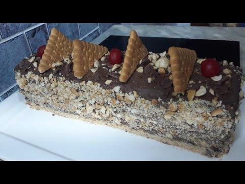 recette-de-hervé-cuisine-gateau-aux-petits-beurre,-chocolat-et-noisette|كيكة-البسكويت-بالشكلاطة
