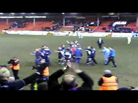 Aberdeen 0 - 1 Raith Rovers (Full time celebrations)