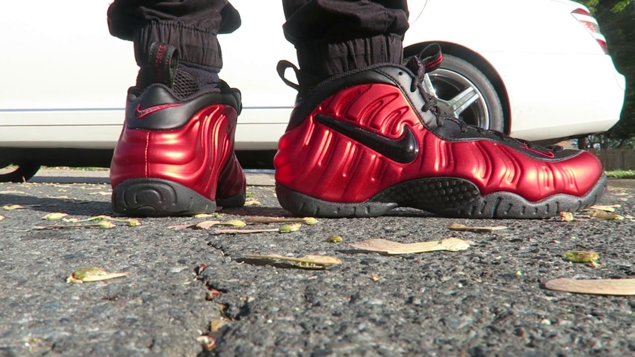 413f32008 NIKE UNIVERSITY   VARSITY RED FOAMPOSITE PRO ON FEET 🔥🔥🔥 RISHIRICH23