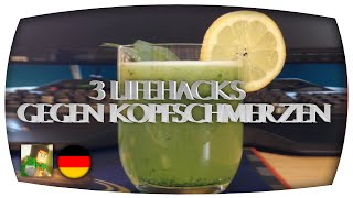 3 Coole Life Hacks gegen Kopfschmerzen! (Lifehacks by Drscope100) [German + English Subtitles/HD]