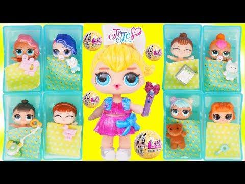 JOJO Unicorn Custom LOL Surprise Doll Visits Babies At Hospital