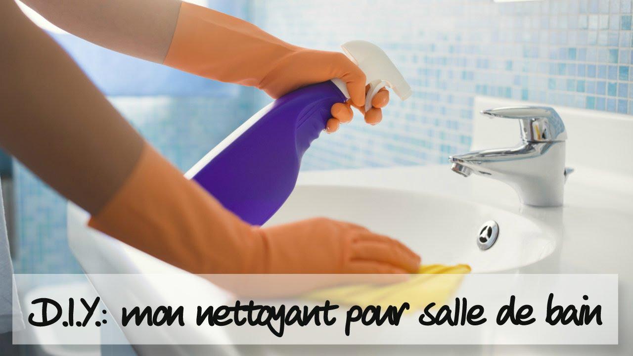d i y comment faire un spray nettoyant pour la salle de bains