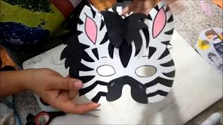 Máscara de EVA Safari Zebra