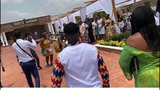 Fella Makafui & Medikal Parents Arrive At Engagement