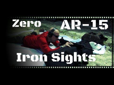 How To Zero AR-15 Iron Sights (HD)