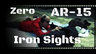 How To Zero AR-15 Iron Sights (HD)