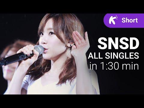 All SNSD K-Pop singles in 1.5 minute [2007-2015] (Girls' Generation)