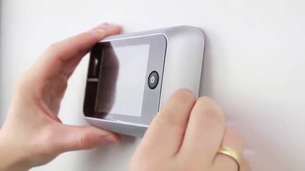 Berühmt Digitaler Türspion - so geht´s - YouTube QY26